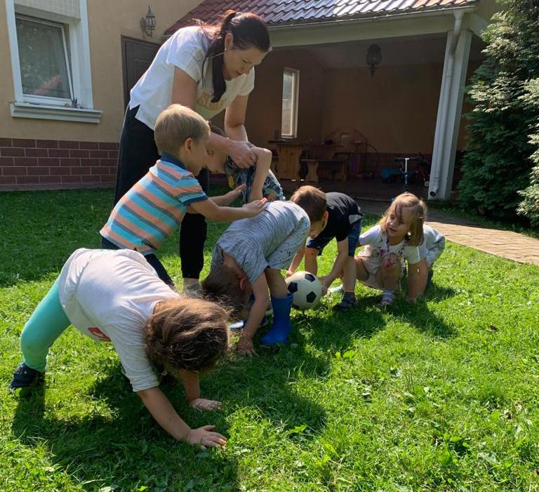 Дети на спортивном празднике, фото